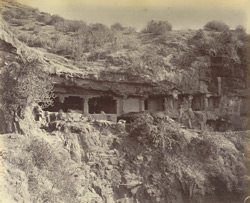 Ellora. General view of the Dher-warra [Dherwada] (or outcasts quarter)